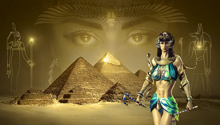 female Egyptian illustration