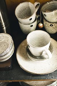 Glazed ceramic tea cup