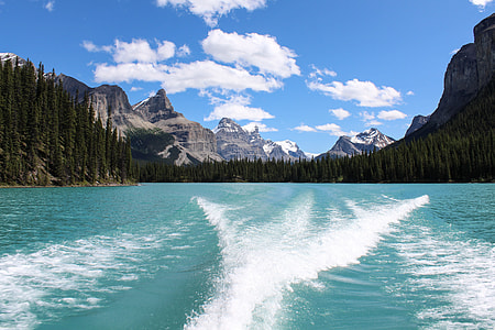 mountain near on the body of water