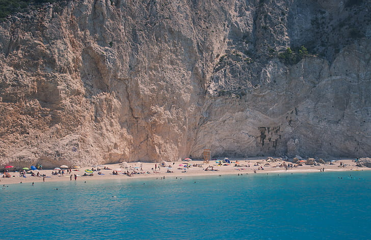 rock cliff over seashore