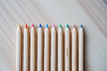 Colored Pencils in a Row #1