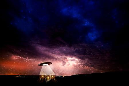UFO in galaxy