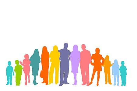 silhouette of people illustration