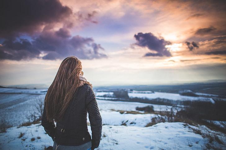 Girl and Fantasy Sky Scenery #1