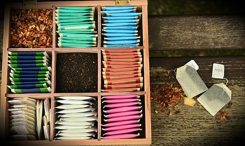 assorted-color tea pack lot
