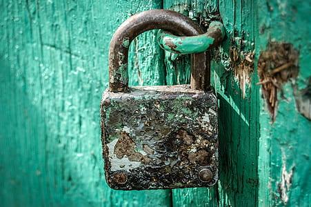 locked brown padlock
