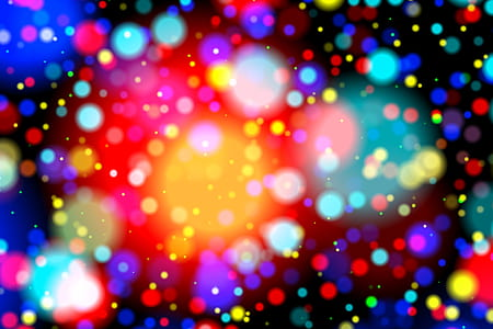 photo of assorted-color bokeh lights