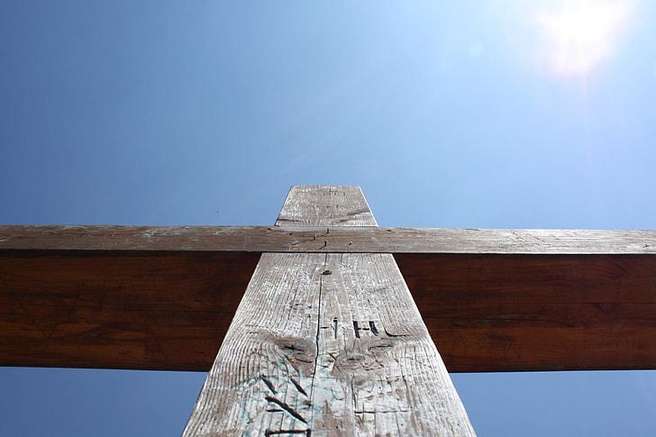 brown wooden cross