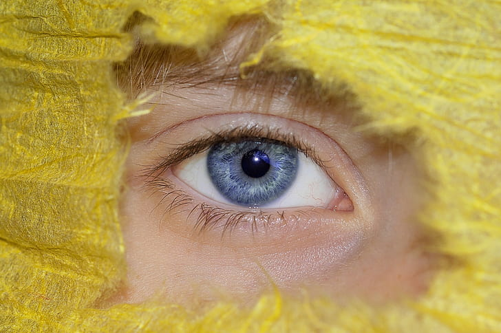 person's gray eye