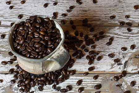 pot of coffee beans