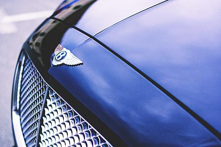 Closeup shot of Bentley luxury car