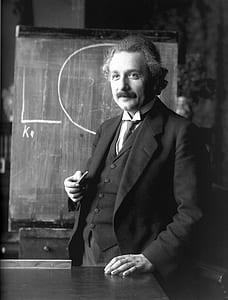 photography of Albert Einstein