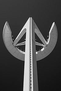 white concrete landmark during nighttime