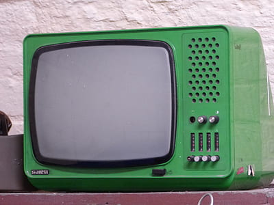 green and black TV