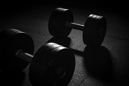 Barbell and dumbbell weights for gym workout and exercise