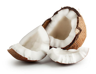 cracked open coconut shell