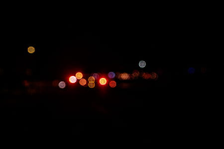 bokeh photography of red light
