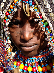 person wearing traditional headdress