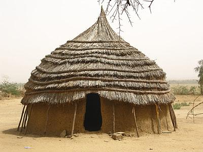 gray teepee hut
