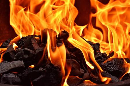 closeup photography of fire