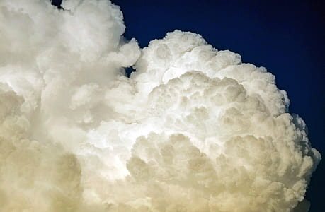 white nimbus clouds