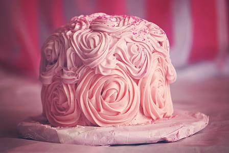 close up photo of pink fondant cake