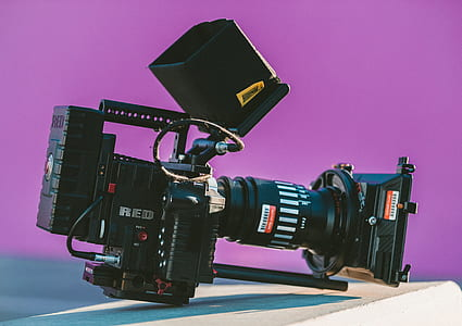 black bridge camera on surface