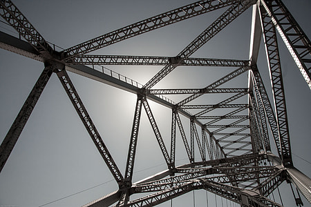 low angle photography of transmission tower