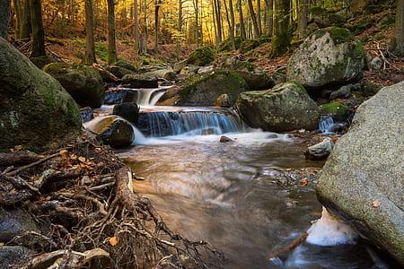 running water scenery