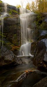 long exposure photo of waterfalls