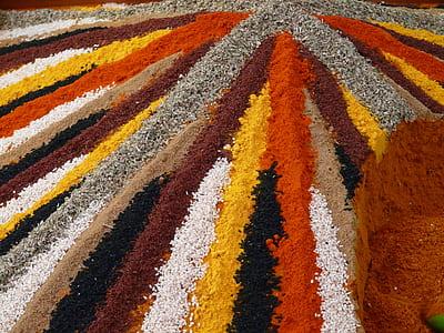 assorted-color grains