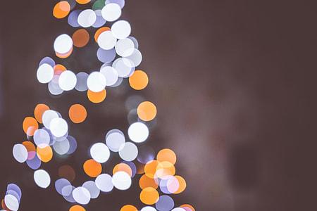 Christmas Tree Bokeh Lights Background