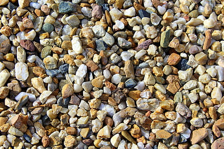 brown and white pebbles