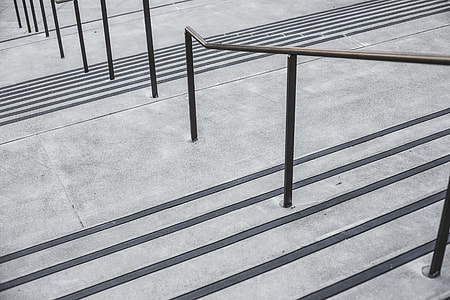 Clean Minimalistic Concrete Stairs