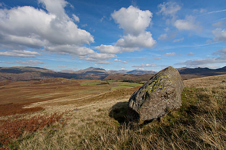 Landscape shot captured in the Western part of the Lake District, Cumbria, England