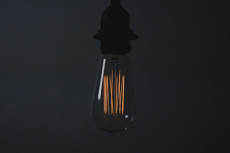 Closeup shot of a light bulb