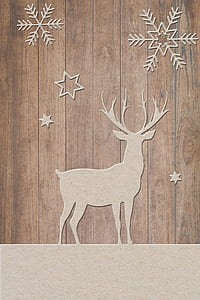 brown buck and snow flakes wall decals