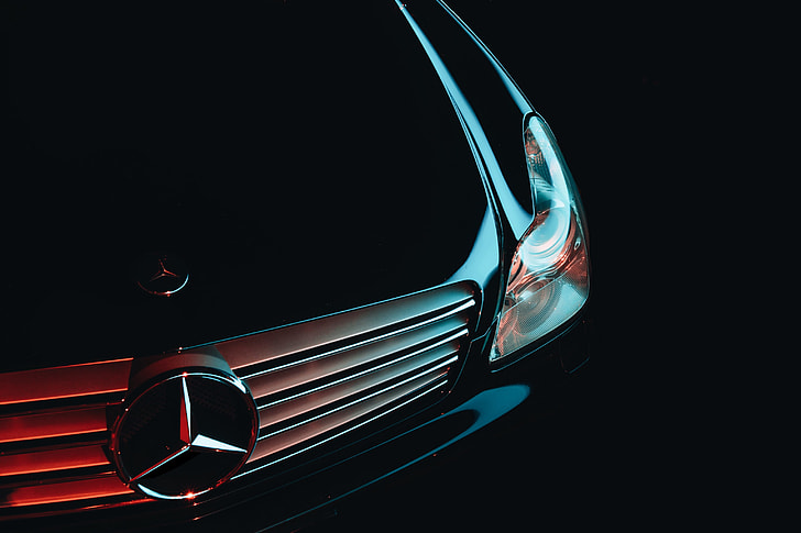 stainless steel Mercedes-Benz car grille