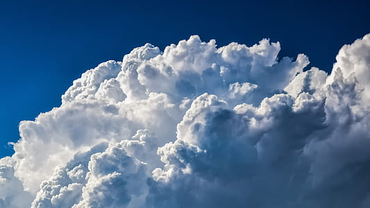 cumulus clouds photograph