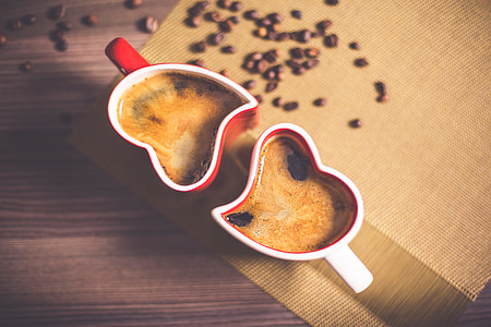 Lovely and Romantic Heart Coffee Cups