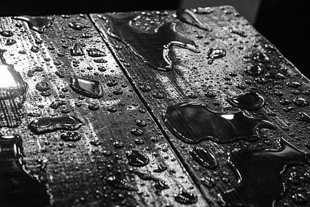 Water Drops on Black Board