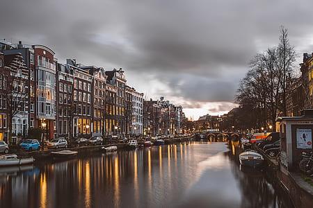 Amsterdam during sunset