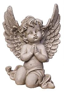 boy angel concrete statue