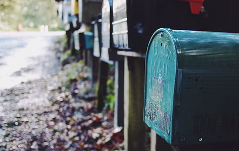 photo of green mail box
