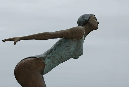 brown concrete statue