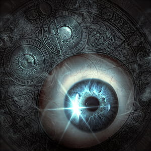 macro shot of person's eye