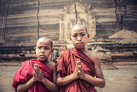 two boy monks