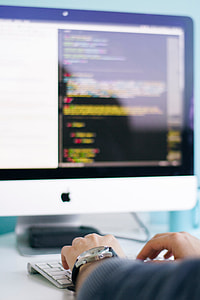 Coding Code Laptop Blur