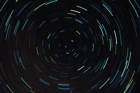 Dark circular abstract image