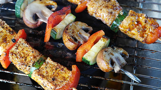 kebab BBQ on the grille